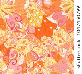 tracery seamless pattern.... | Shutterstock .eps vector #1047450799