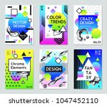 collection of six fantasy... | Shutterstock .eps vector #1047452110