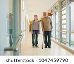 grandfather and granddaughter | Shutterstock . vector #1047459790