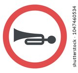 horn symbolising give way  | Shutterstock .eps vector #1047460534