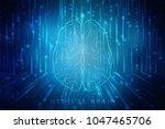 human brain 3d illustration | Shutterstock . vector #1047465706