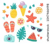 summer vector illustration with ... | Shutterstock .eps vector #1047466498