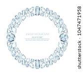 vector round frame from... | Shutterstock .eps vector #1047471958