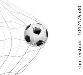 soccer ball in net isolated on... | Shutterstock .eps vector #1047476530