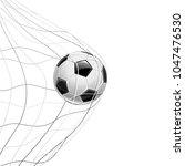 soccer ball in net isolated on... | Shutterstock .eps vector #1047476530