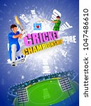 vector illustration of sports... | Shutterstock .eps vector #1047486610