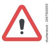 safety hazard warning sign  | Shutterstock .eps vector #1047503353