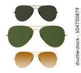 sunglasses. vector. just place...   Shutterstock .eps vector #104750879