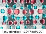 colorful water drops over... | Shutterstock . vector #1047509320