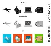 transport aircraft  delivery on ... | Shutterstock .eps vector #1047514324
