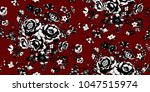 seamless floral pattern in... | Shutterstock .eps vector #1047515974