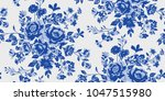 seamless floral pattern in... | Shutterstock .eps vector #1047515980