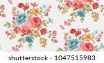 seamless floral pattern in... | Shutterstock .eps vector #1047515983