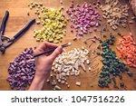 artist at work young...   Shutterstock . vector #1047516226