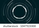 abstract technology circles... | Shutterstock .eps vector #1047523300