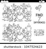 black and white cartoon... | Shutterstock .eps vector #1047524623