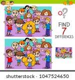 cartoon illustration of finding ... | Shutterstock .eps vector #1047524650