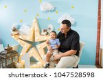 hapiness and beatiful family | Shutterstock . vector #1047528598