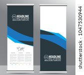 blue roll up business brochure... | Shutterstock .eps vector #1047530944