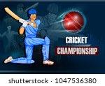 batsman sports player playing... | Shutterstock .eps vector #1047536380