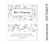 black and white business card... | Shutterstock .eps vector #1047538279