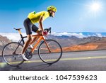 professional road bicycle racer ... | Shutterstock . vector #1047539623