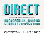 decorative 3d font  letters and ... | Shutterstock .eps vector #1047541096