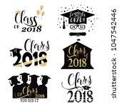 graduation wishes overlays  set.... | Shutterstock .eps vector #1047542446