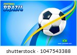 vector soccer ball and the... | Shutterstock .eps vector #1047543388