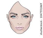 woman's face. fashion portrait. ... | Shutterstock .eps vector #1047551869