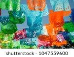mexican festons in playa del... | Shutterstock . vector #1047559600