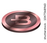 bytecoin virtual money currency.... | Shutterstock .eps vector #1047568960