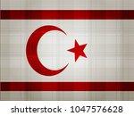 northern cyprus flag vector... | Shutterstock .eps vector #1047576628