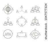 set of team work communication... | Shutterstock .eps vector #1047577324