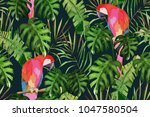 Tropical Seamless Pattern. Pal...