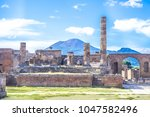 Ancient Ruins Of Pompeii  Italy