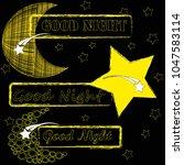 good night.moon and stars...   Shutterstock .eps vector #1047583114