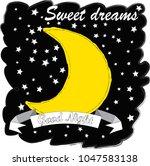 good night.moon and stars...   Shutterstock .eps vector #1047583138