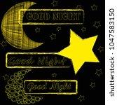 good night.moon and stars...   Shutterstock .eps vector #1047583150