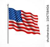 american flag  vector... | Shutterstock .eps vector #104758406