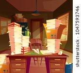 vector cartoon background with... | Shutterstock .eps vector #1047593746