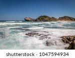 beautiful scenery of seascape...   Shutterstock . vector #1047594934