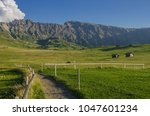 summer in alpe di siusi seiser... | Shutterstock . vector #1047601234