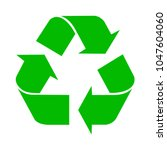 simple  green  flat recycle... | Shutterstock .eps vector #1047604060