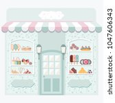 sweet shop .storefront.... | Shutterstock .eps vector #1047606343