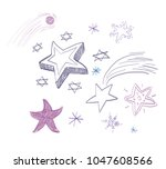 stars icon isolated . vector... | Shutterstock .eps vector #1047608566