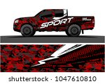 truck graphic vector kit.... | Shutterstock .eps vector #1047610810