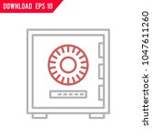 secure vault vector icon | Shutterstock .eps vector #1047611260
