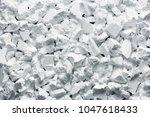pieces of white styrofoam   Shutterstock . vector #1047618433