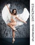 ballet dancer woman in role of... | Shutterstock . vector #1047629413